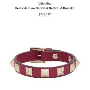 (NWT) 💯% Authentic Valentino rock stud bracelet